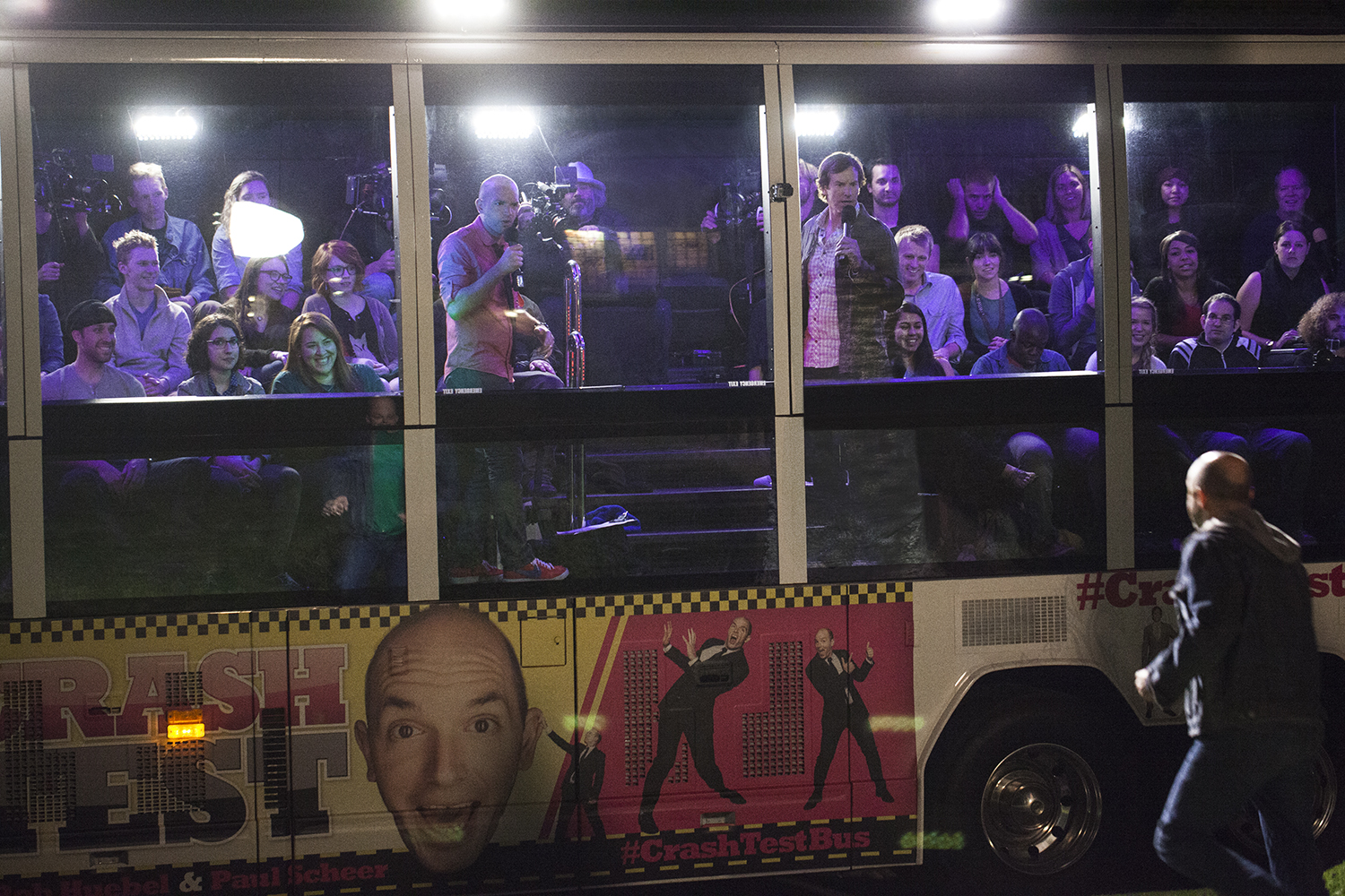 "Watch the trailer for ""Crash Test,"" the stand-up special on a party bus with Paul Scheer and Rob Huebel"