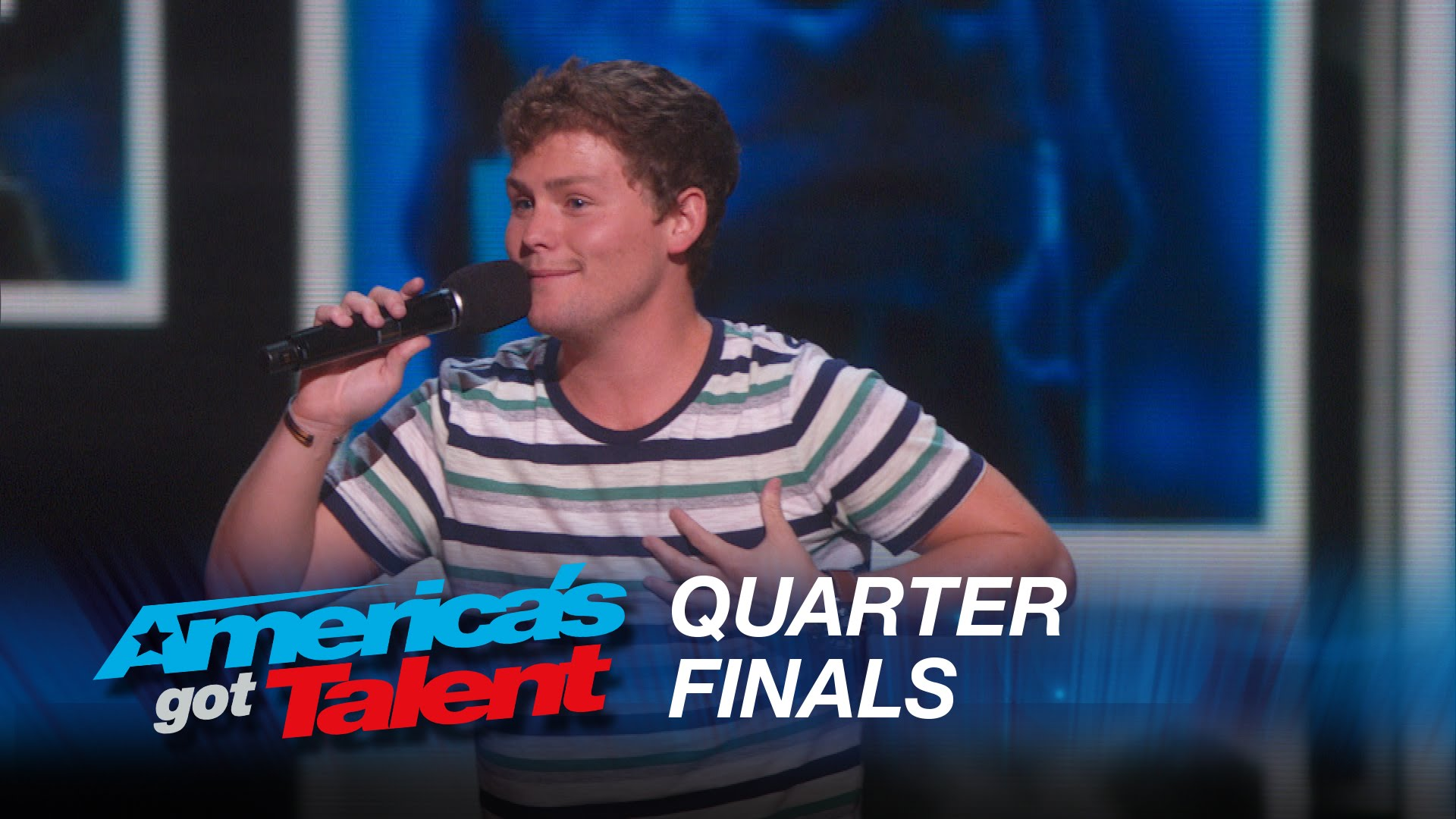 Drew Lynch's live quarterfinal round of America's Got Talent 2015 at Radio City Music Hall