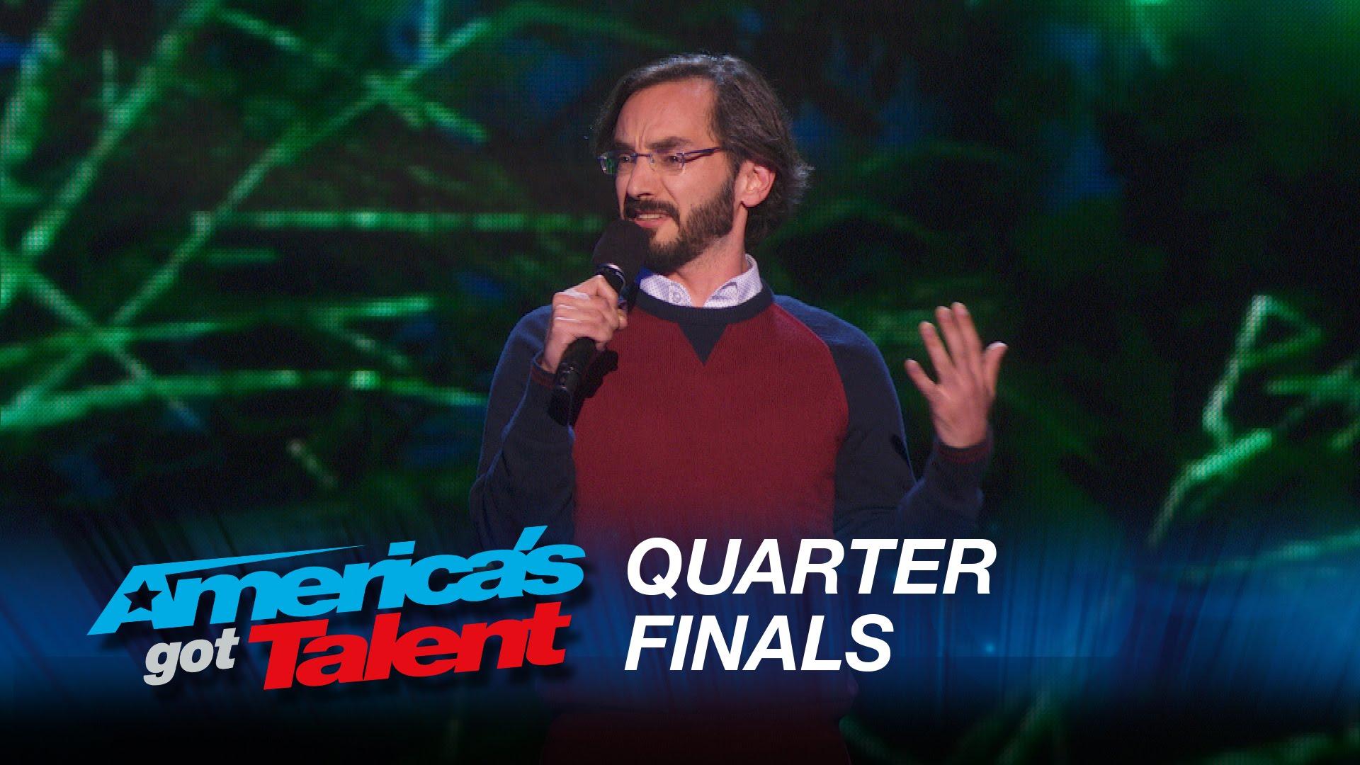 Myq Kaplan's live quarterfinal round of America's Got Talent at Radio City Music Hall