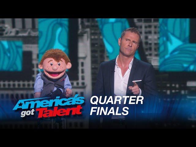 Paul Zerdin's live quarterfinal round at America's Got Talent 2015 from Radio City Music Hall
