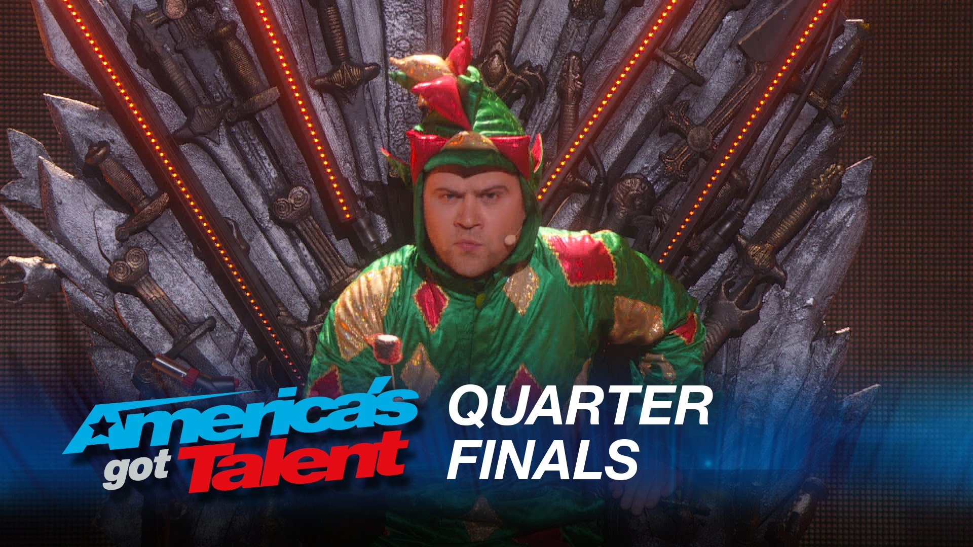 Piff the Magic Dragon's live quarterfinal round of America's Got Talent 2015 at Radio City Music Hall