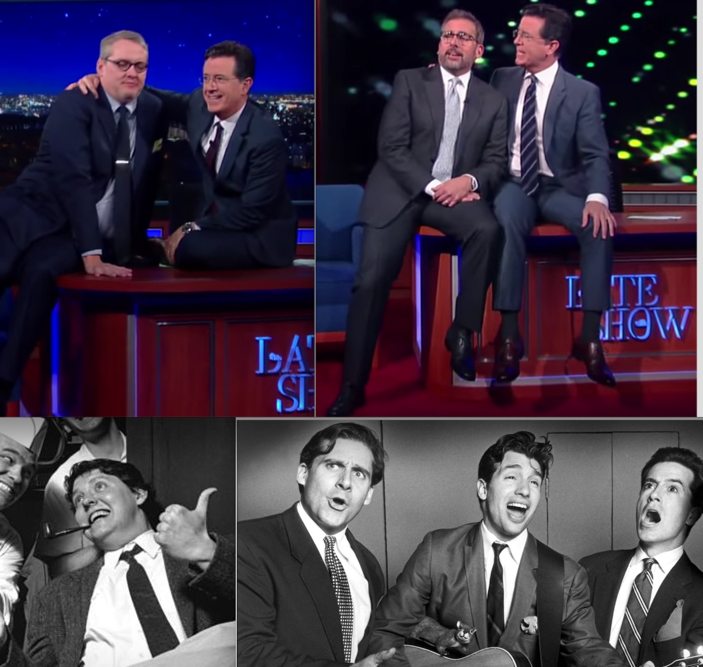 Stephen Colbert's nostalgic week with fellow Second City alums Steve Carell and Adam McKay