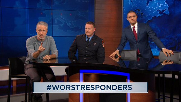 Jon Stewart returns to The Daily Show to lobby Congressional Republicans to save 9/11 first responders bill