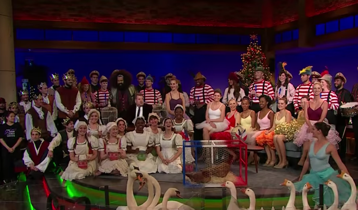 Reggie Watts presents James Corden with The 12 Days of Christmas