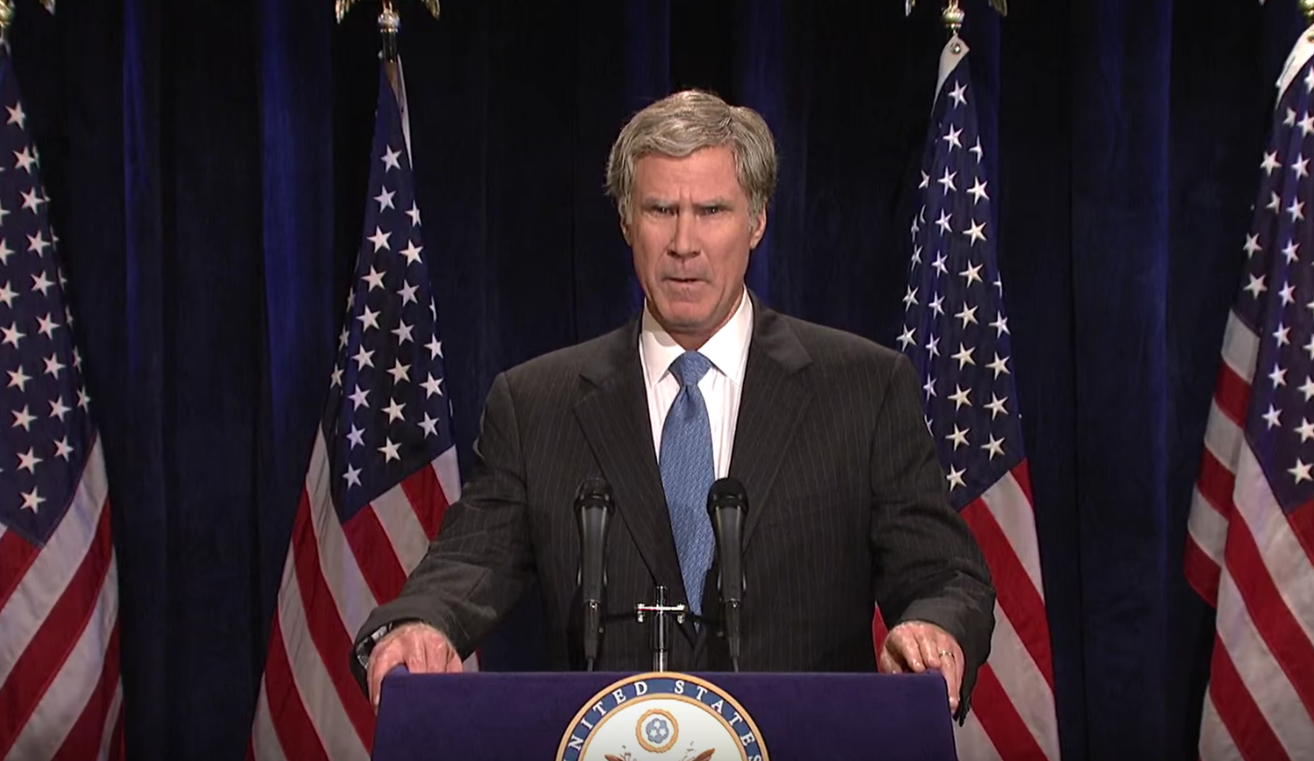 Will Ferrell tries to resurrect George W. Bush for a third presidential term on Saturday Night Live