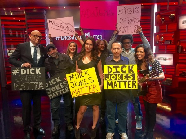 The Nightly Show stands up for comedians against politicians: #DickJokesMatter