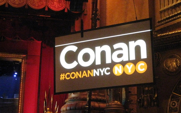 Conan in NYC week 2016 announces special guests for Oct. 31-Nov. 3, 2016