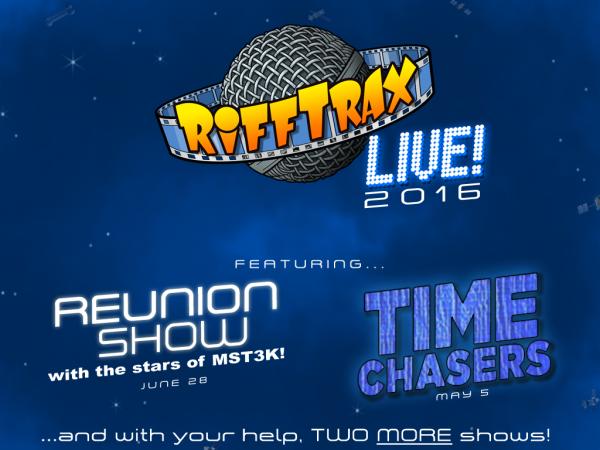 RiffTrax reuniting entire MST3K principal cast, including all three hosts for June 2016 show