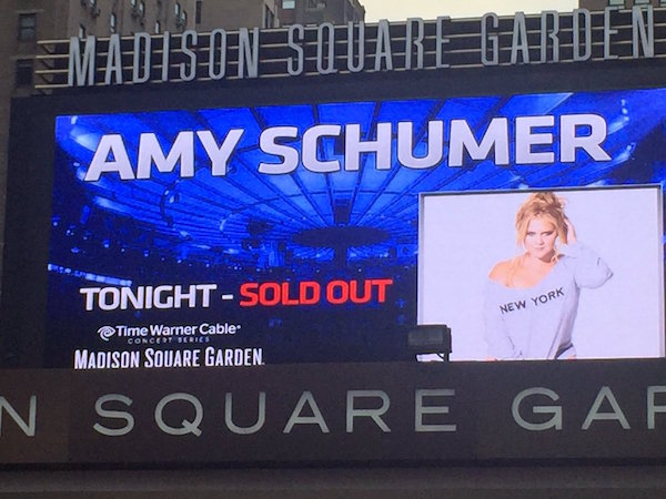Amy Schumer announces world arena tour for 2016, including second date at MSG