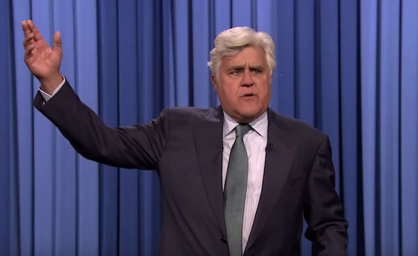 Jay Leno subs in for Tonight Show monologue with Hillary and Donald jokes