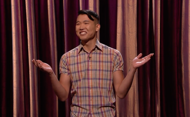 Joel Kim Booster's debut on Conan