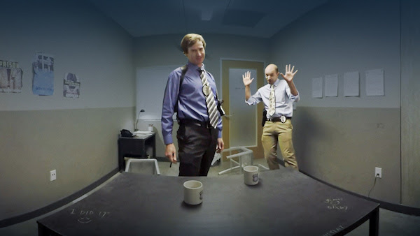 Watch Paul Scheer and Rob Huebel interrogate you in VR 360-degree 3D