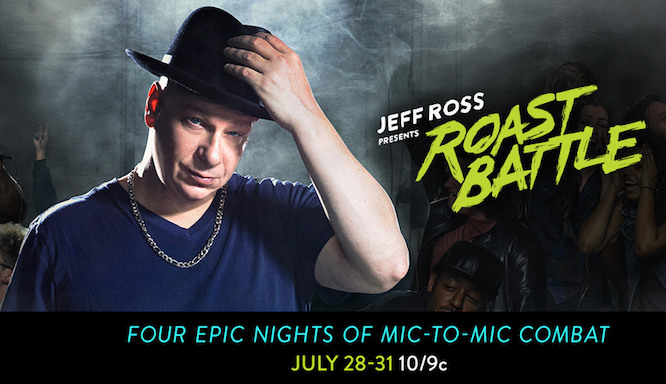 Jeff Ross Presents Roast Battle presents its all-star lineup of judges and combatants for Comedy Central miniseries broadcast from Montreal's Just For Laughs