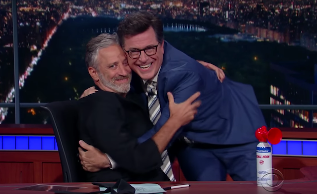 """I see you, and I see your bullshit!"" Jon Stewart returns to TV to tackle FOX News hypocrisy, live on The Late Show with Stephen Colbert"