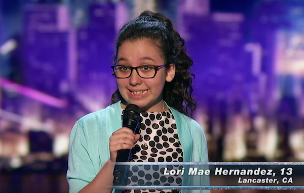 "Lori Mae Hernandez's ""Judges Cut"" performance on America's Got Talent 2016"