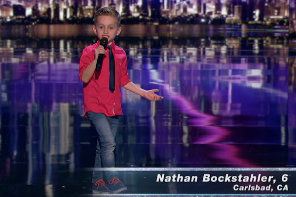 """6-year-old Nathan Bockstahler's """"Judge Cuts"""" performance on America's Got Talent 2016"""