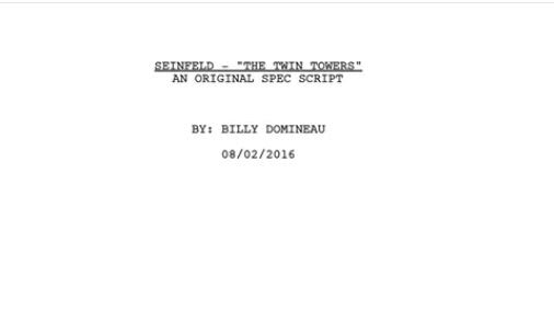 The 9/11 Seinfeld spec script you absolutely have to read today