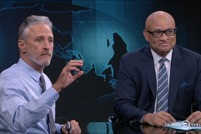 """The finale of """"The Nightly Show with Larry Wilmore"""" with special guest Jon Stewart"""
