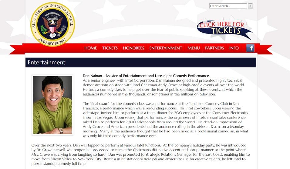 """Dan Nainan booked to perform for Donald Trump's """"All-American Inaugural Ball"""""""