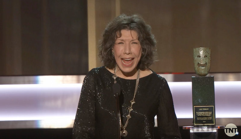 Lily Tomlin wins the Lifetime Achievement Award from the Screen Actors Guild