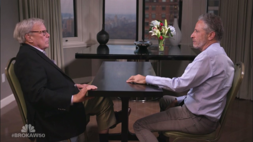 "Jon Stewart tells Tom Brokaw that social media has ""democratized abuse"""