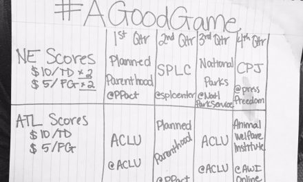 Comedian's #AGoodGame initiative for Super Bowl LI raises more than LXX thousand dollars in donations