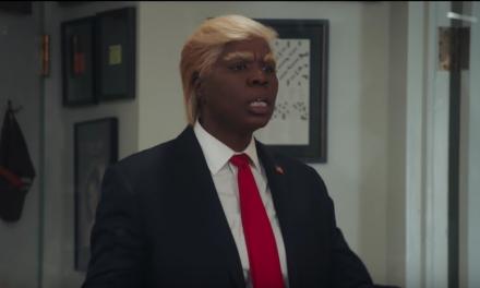 Leslie Jones and Vanessa Bayer as Donald Trump on Saturday Night Live