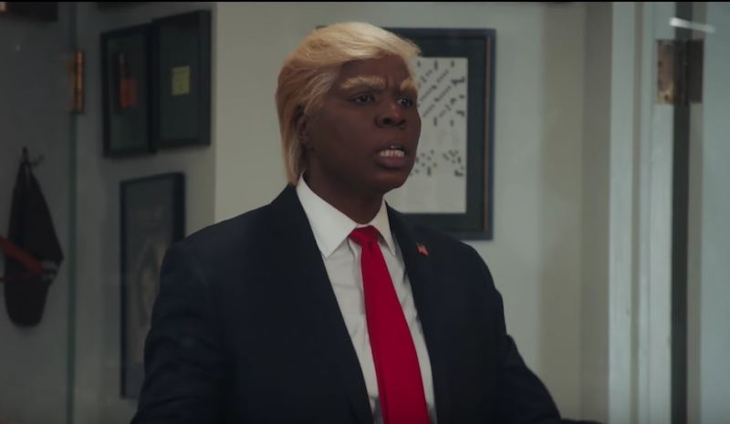 Leslie Jones and Vanessa Bayer as Donald Trump on Saturday Night Live