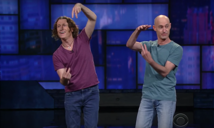 The Umbilical Brothers on The Late Show with Stephen Colbert