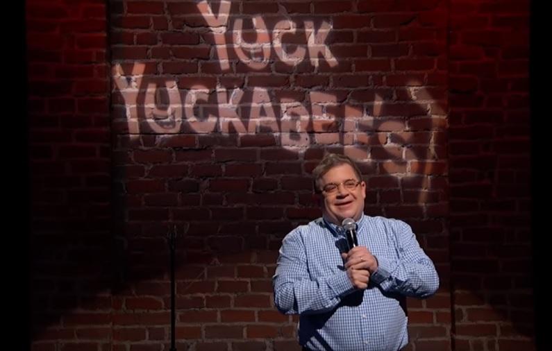Patton Oswalt performs Mike Huckabee's Twitter jokes on Jimmy Kimmel Live