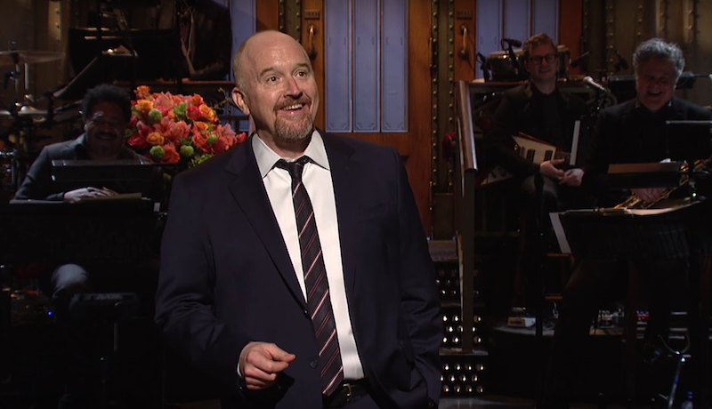 """Why did the chicken cross the road?"" Louis CK's 2017 SNL monologue"
