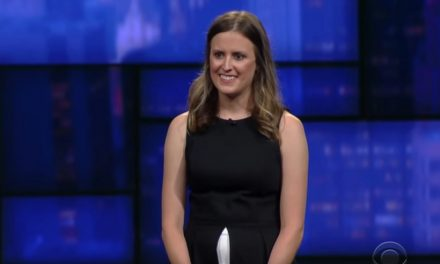 Sarah Tollemache network TV debut on The Late Show with Stephen Colbert