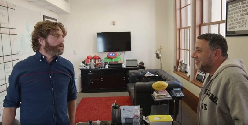 Zach Galifianakis was prepared to guest host Jimmy Kimmel Live