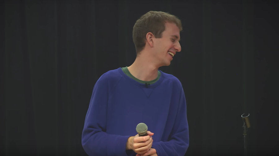 Benny Feldman uses his Tourette's to heckle himself onstage