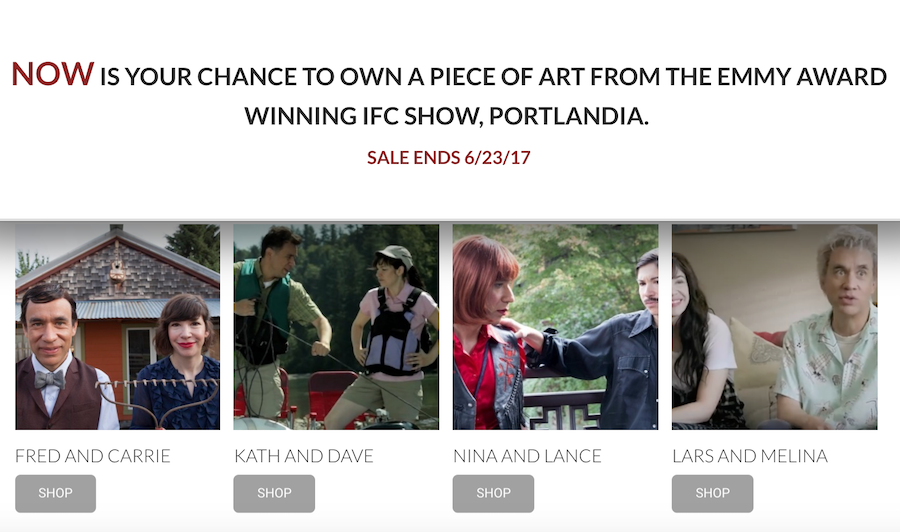 Artwork as seen on IFC's Portlandia now up for sale
