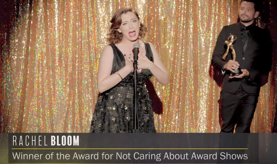 Rachel Bloom makes a music video to show how much she doesn't care about award shows