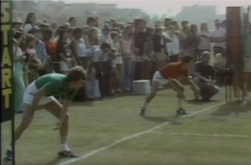 """Watch Billy Crystal race David Letterman in a classic """"Battle of the Network Stars"""" obstacle course"""
