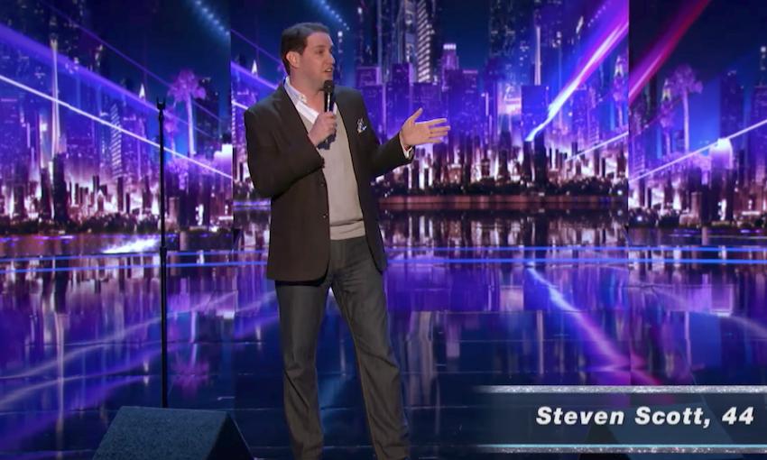 Steven Scott performs impersonations for Judges Cut on America's Got Talent 2017