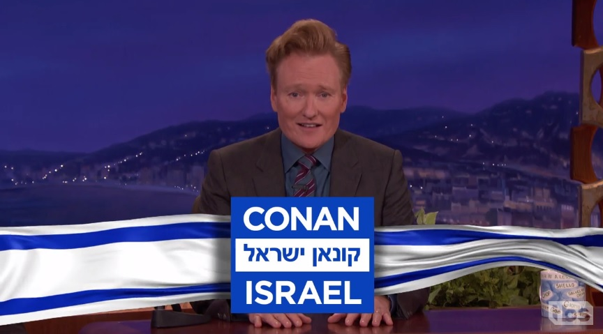 Next stop for Conan O'Brien passport: Israel