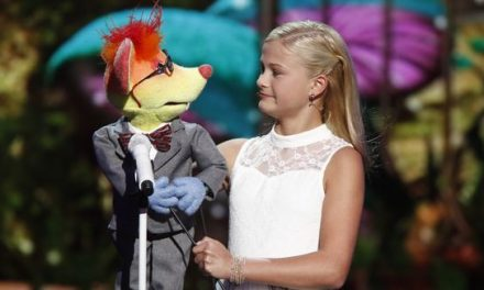 12-year-old ventriloquist Darci Lynne serenades Mel B on America's Got Talent 2017