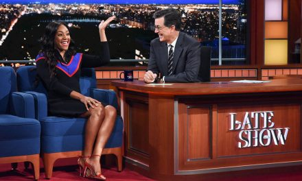 Tiffany Haddish wins over Stephen Colbert on The Late Show