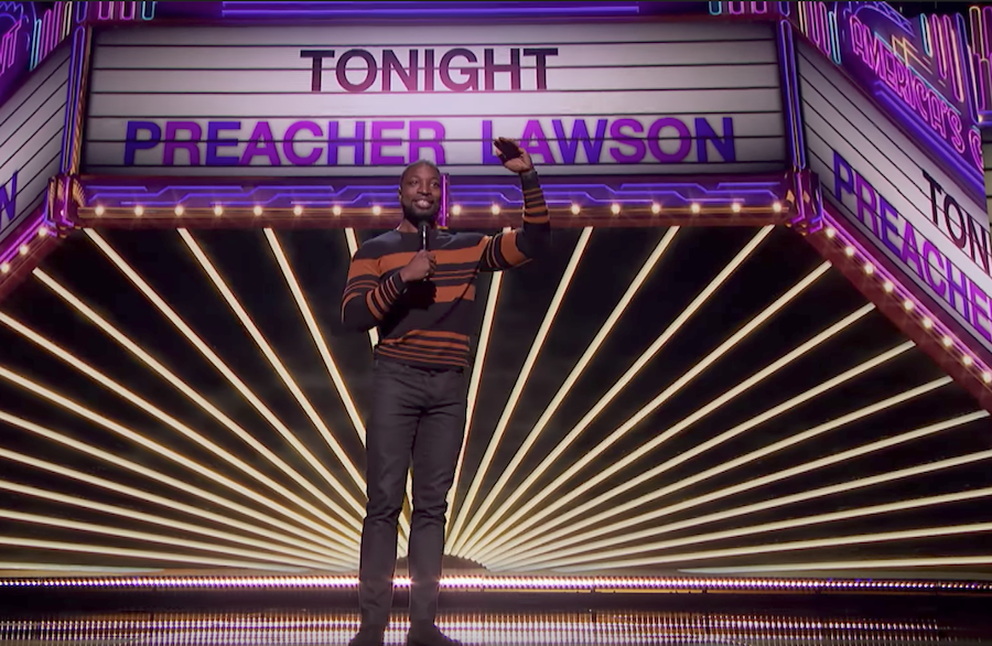 Preacher Lawson performs on the finals of America's Got Talent 2017