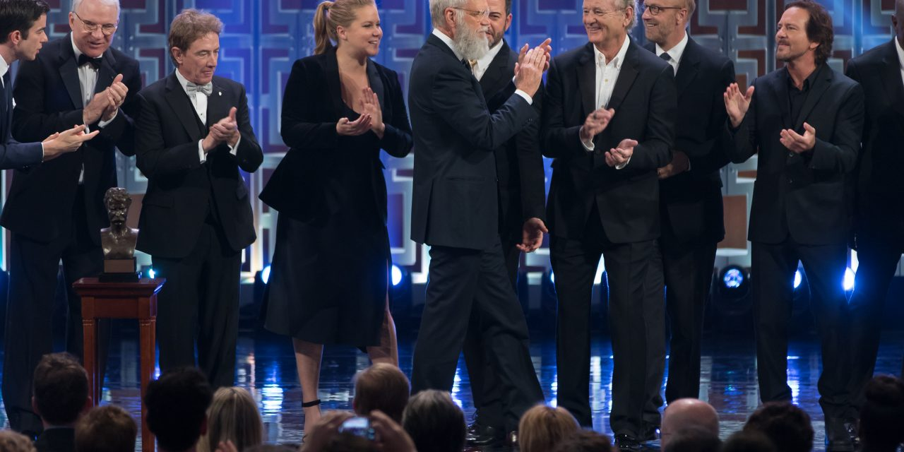 Watch David Letterman receive the 2017 Mark Twain Prize for
