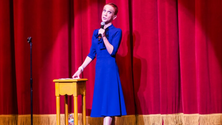 Where in the world is Kathy Griffin, and what is she thinking