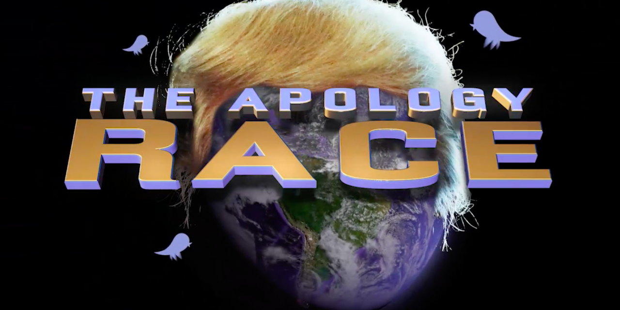 """Full Frontal with Samantha Bee's correspondents launch two-week """"Apology Race"""" to apologize to everyone on Trump's behalf"""