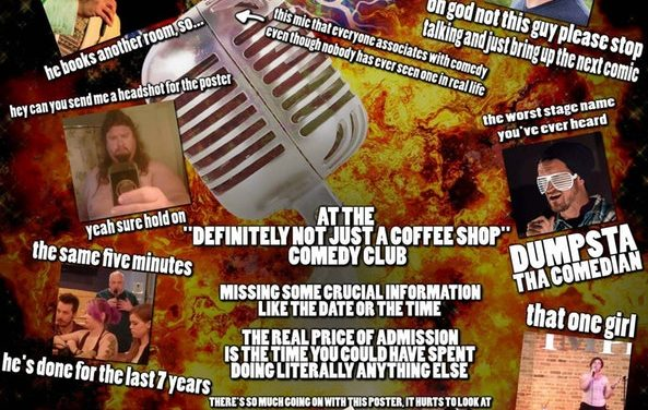 Open Mic Magazine presents Every Comedy Poster