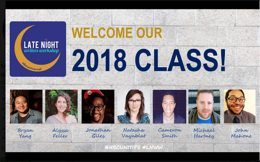 NBC announces Late Night Writers Workshop class of 2018