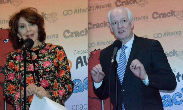 Andrea Martin and Colin Mochrie honored with inaugural Candy Awards at Crackup Comedy Festival