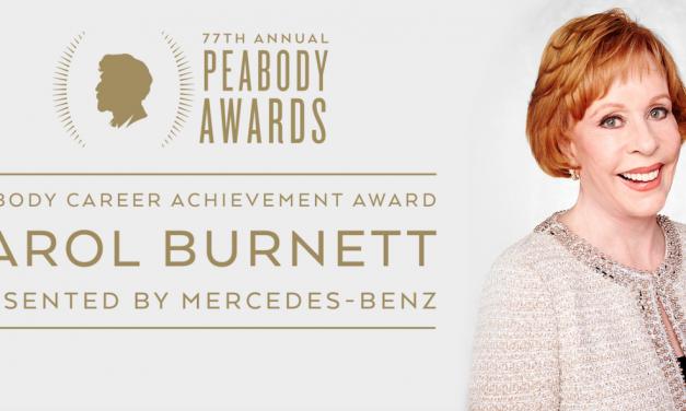 Carol Burnett to receive first-ever Peabody Career Achievement Award