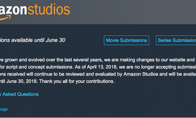 Amazon Studios has stopped accepting your TV and movie pitches